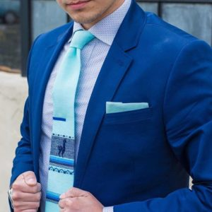 Teal Groomsmen Wedding Tie